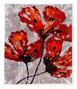 Poppies 47 Fleece Blanket