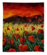 Poppies 68 Fleece Blanket