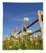 Poppies And Fence 2am-110209 Fleece Blanket