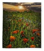Poppies Art Fleece Blanket