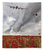 Poppies Dropped  Fleece Blanket