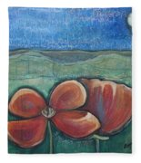 Poppies For Barbara And Paul Fleece Blanket