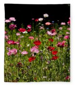 Poppies Gettin Sun Fleece Blanket