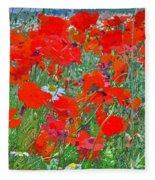 Poppies II Fleece Blanket
