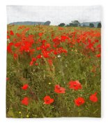 Poppies IIi Fleece Blanket