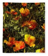 Poppies Will Make Them Sleep Fleece Blanket