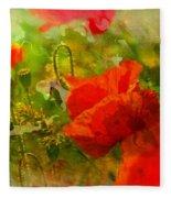 Poppin Poppies Fleece Blanket