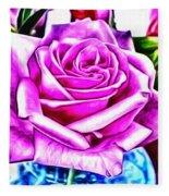 Poppin Purple Rose Fleece Blanket