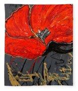 Poppy 43 Fleece Blanket