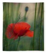 Poppy Abstract Fleece Blanket