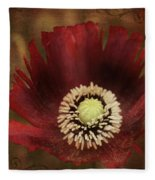 Poppy At Days End Fleece Blanket