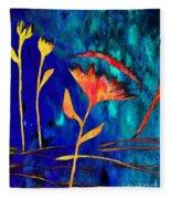 Poppy At Night Abstract 2 Fleece Blanket