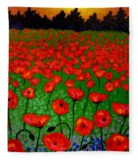 Poppy Carpet  Fleece Blanket