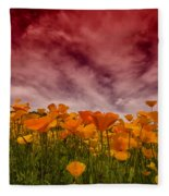Poppy Fields Forever Fleece Blanket