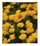 Poppy Fields  Fleece Blanket