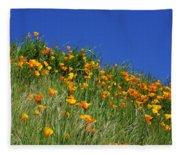 Poppy Flowers Landscape Art Prints Poppies Fleece Blanket