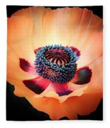 Poppy In The Darkness Fleece Blanket
