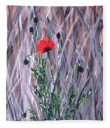 Poppy In The Wild Fleece Blanket
