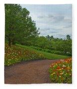 Poppy Path Fleece Blanket