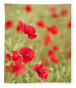 Poppy Red Fleece Blanket