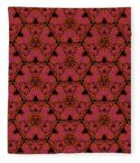 Poppy Sierpinski Triangle Fractal Fleece Blanket