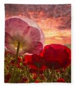 Poppy Sunrise Fleece Blanket