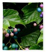 Porcelain Berries Fleece Blanket