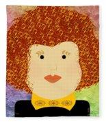 Porcelain Doll 12 Fleece Blanket