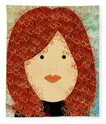 Porcelain Doll 19 Fleece Blanket
