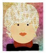 Porcelain Doll 8 Fleece Blanket