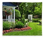 Porch And Garden Fleece Blanket