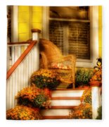 Porch - In The Light Of Autumn Fleece Blanket
