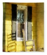 Porch - Long Afternoon Shadow Of Rocking Chair Fleece Blanket