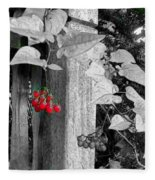 Porch Post Berries Color Punch Fleece Blanket