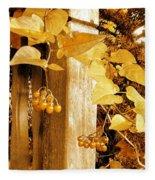 Porch Post Berries Glow Fleece Blanket
