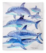 Porpoise Play Fleece Blanket