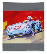 Porsche 550 Rs - 1956 Fleece Blanket