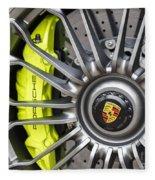 Porsche 918 Wheel Fleece Blanket