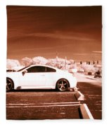Porsche Car Side Profile Brown Near Infrared  Fleece Blanket