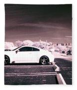 Porsche Car Side Profile Pink Near Infrared Fleece Blanket