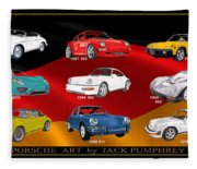 Porsche Times Nine Fleece Blanket