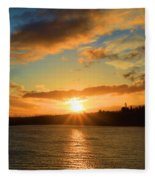 Port Angeles Sunburst Fleece Blanket