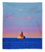 Port Austin Reef Light Fleece Blanket