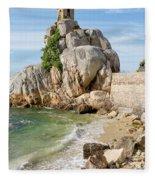 Port Blanc Pevenan Brittany France Fleece Blanket