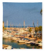 Port De Fontvieille Fleece Blanket