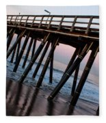 Port Hueneme Pier Askew Fleece Blanket