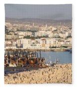 Port Of Agadir Morocco Fleece Blanket