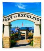 Port Of Excelsior Fleece Blanket