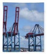 port of Gothenburg Fleece Blanket