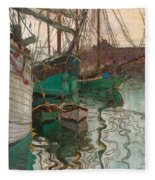 Port Of Trieste Fleece Blanket